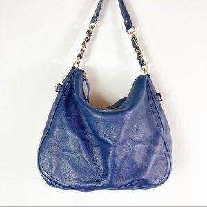 Kate Spade Pine Street Finley Leather Hobo Bag in Navy Blue
